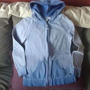 Roxy girls sz XL blue zip up hoodie
